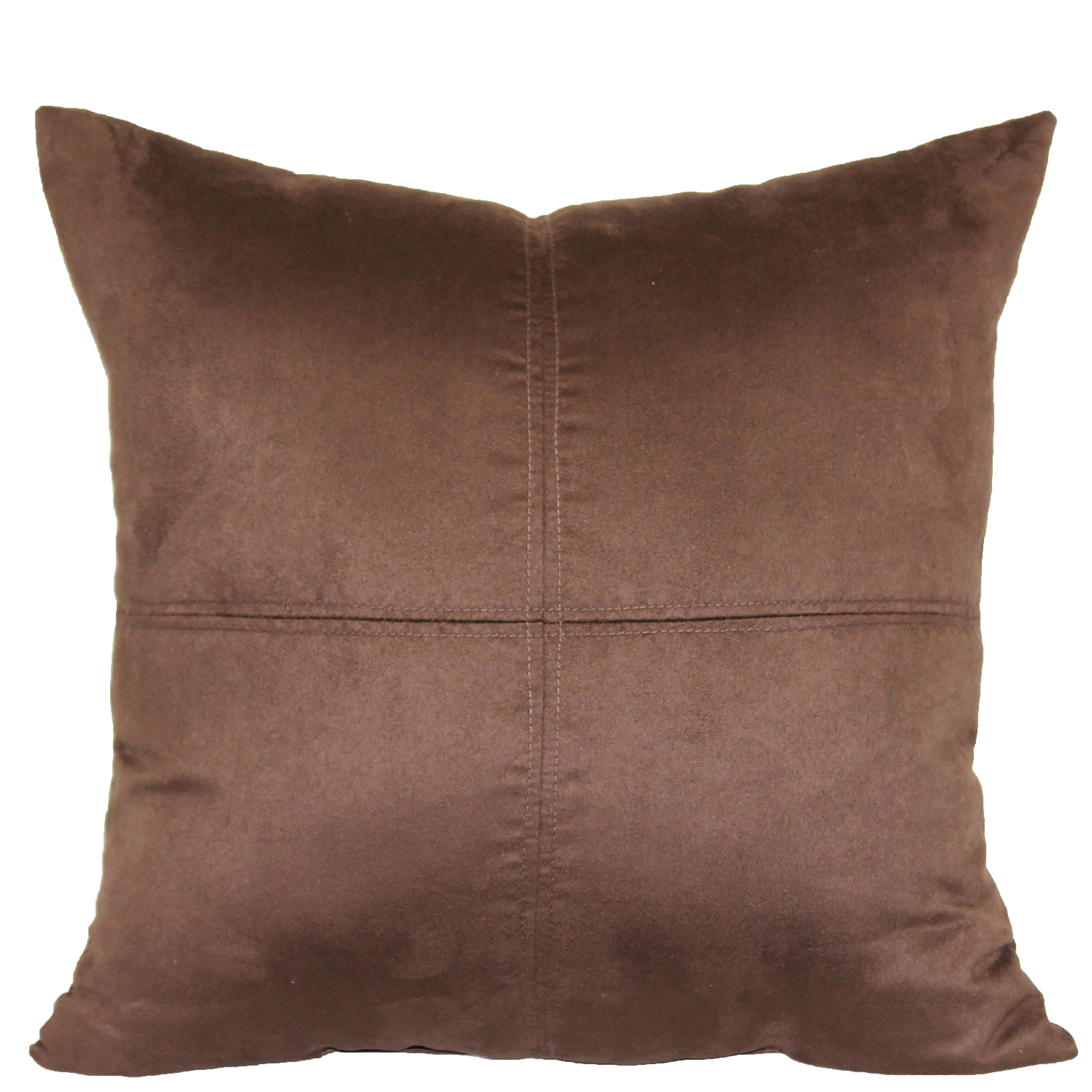 "Mainstays 4-Panel Suede Decorative Throw Pillow, 17"" x 17"", Brownstone"