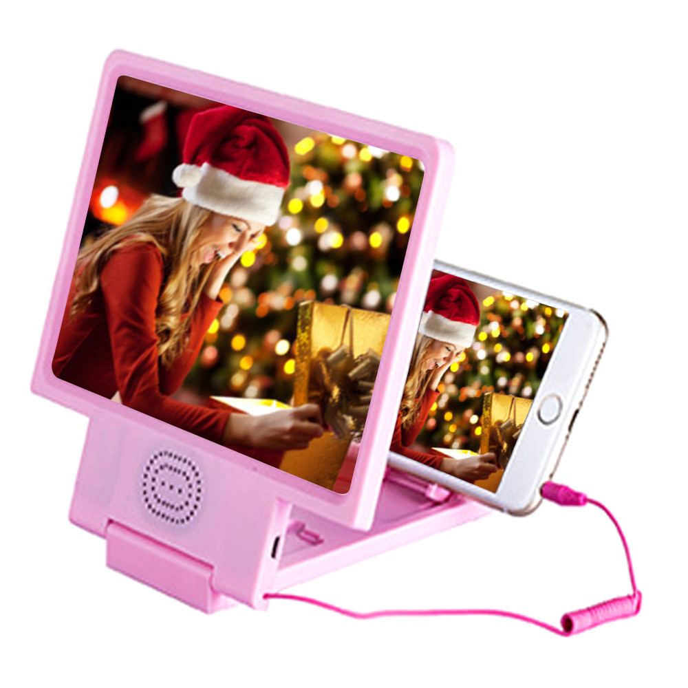 3D Phone Screen Magnifier Stereoscopic Amplifying Desktop With Speaker Bracket