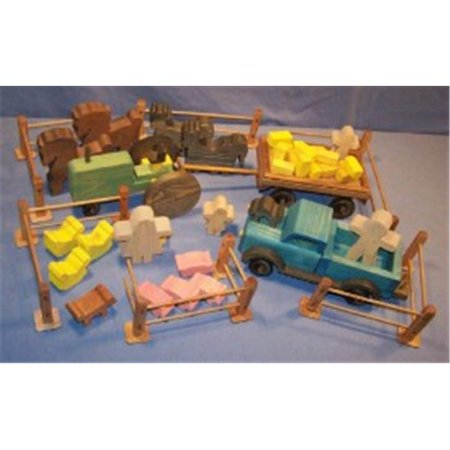 The Puzzle Man Toys W 2005 Wooden Play Farm Series   Complete Accessory Package