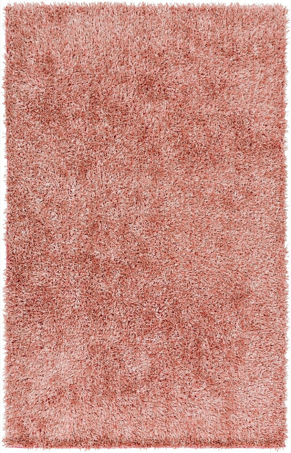 Shag Prism Collection Area Rug In Pastel Pink And Rectangle Shape