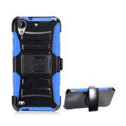 Protective Case For HTC Desire 530, Phone Case For HTC Desire 550 / 555Dual Layer Holster Belt Clip Cover Case with Kickstand (Blue)