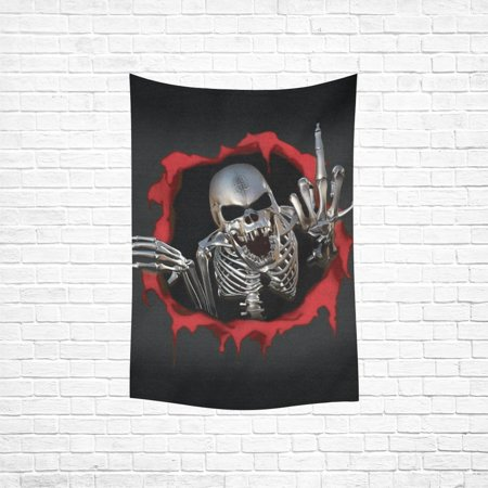 MYPOP Wall Art Skull Art Hanging Wall Tapestry 40x60 inches