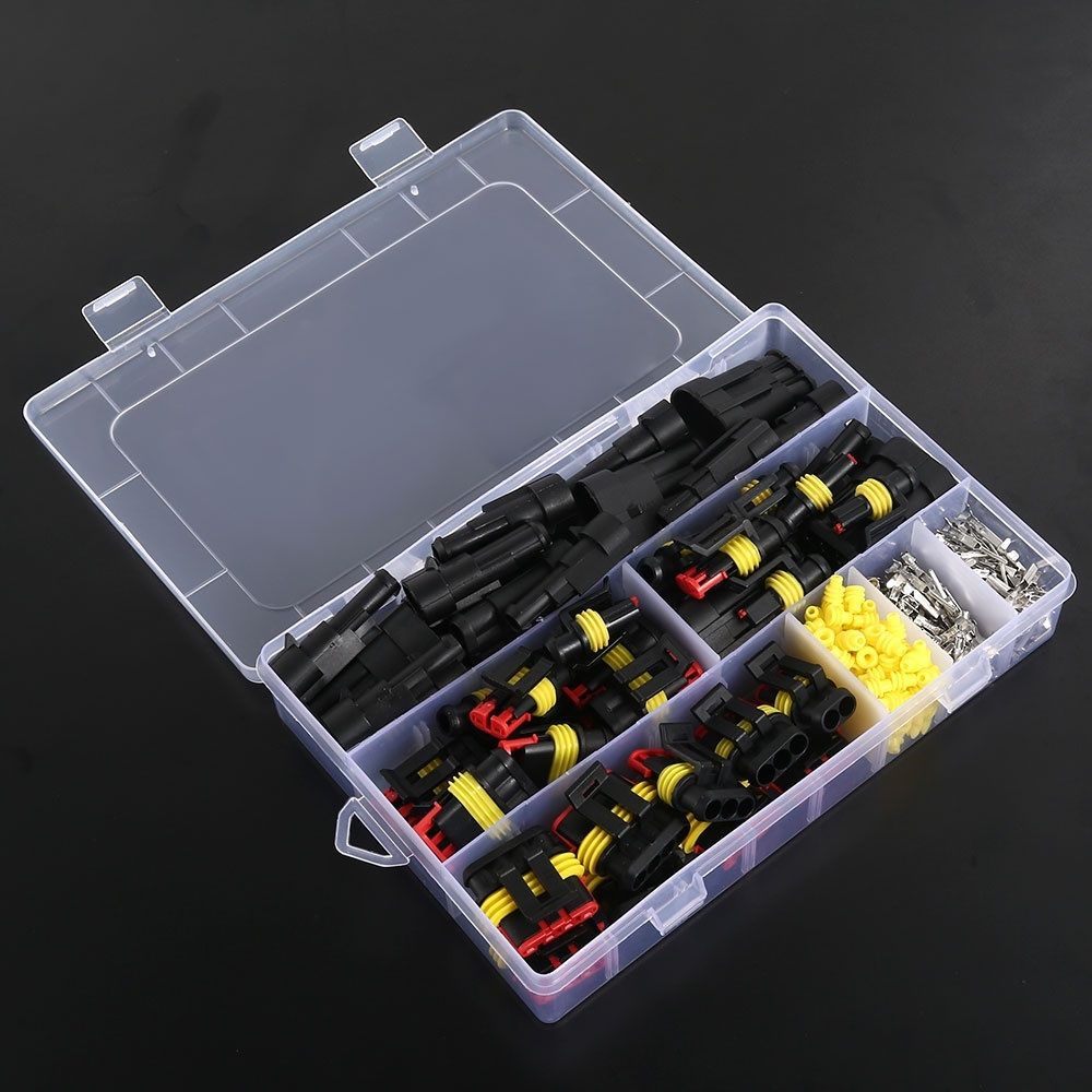 26Sets Waterproof Car Auto Electrical Wire Connector Plug 1-4 Pin Way Plug Kits