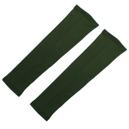 Outdoor Sports Summer Cycling Sun Protection Cover Arm Sleeves Army Green Pair (Cycling Sun Sleeves)