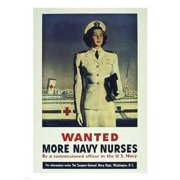 Pivot Publishing - A PPAPVP1346 Wanted! More Navy Nurses -18 x 24 Poster Print