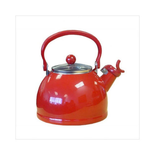 Bundle-23 Reston Lloyd Calypso Basics 80oz Whistling Tea Kettle in Red (Set of 2)