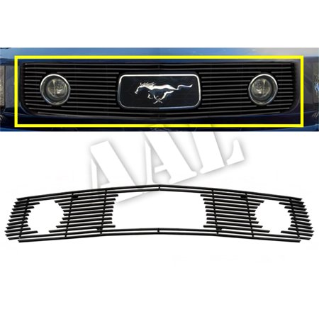 AAL PREMIUM BLACK BILLET GRILLE / GRILL INSERT For 2005 2006 2007 2008 2009 FORD Mustang V6 Only Fit Pony Package with head light and pony cutout Black Billet Grille Grill (2007 Ford Mustang V6 Pony Package Review)