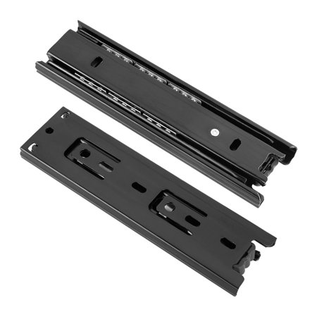 Ball Bearing Drawer Slides,6-Inch,100lbs Capacity,45mm Wide,Black,1 Pair