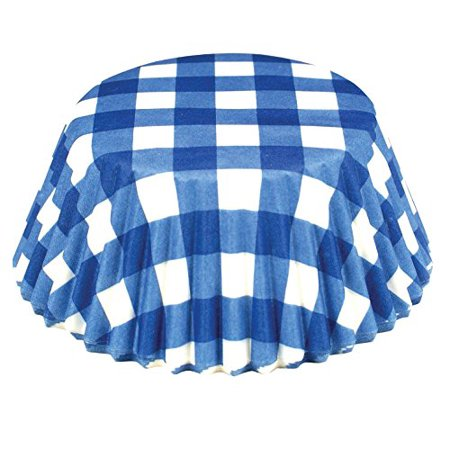 - Fox Run Blue Gingham Paper Mini Party Bake Cups, 50 Pack, Cupcake Muffin Liners