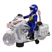 TECHEGE Toys Police Motorcycle Ride on for Boys or Toddlers Kids with Lights, Sounds, Fun