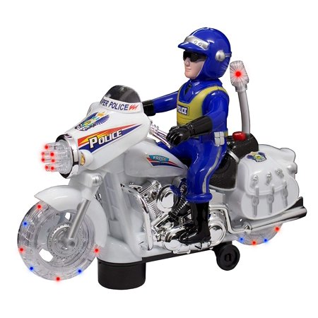TECHEGE Toys Police Motorcycle Ride on for Boys or Toddlers Kids with Lights, Sounds, - Kids Toys For Boys