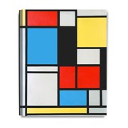 """DECORARTS - Ater Piet Mondrian Composition in blue, red and yellow Lithograph in colours. Giclee Prints Canvas Art for Home Decor 16x20"""""""