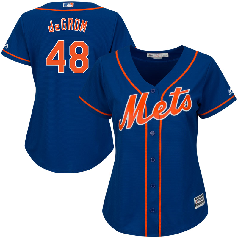 New York Mets Majestic Women's Cool Base Player Jersey Royal by MAJESTIC LSG