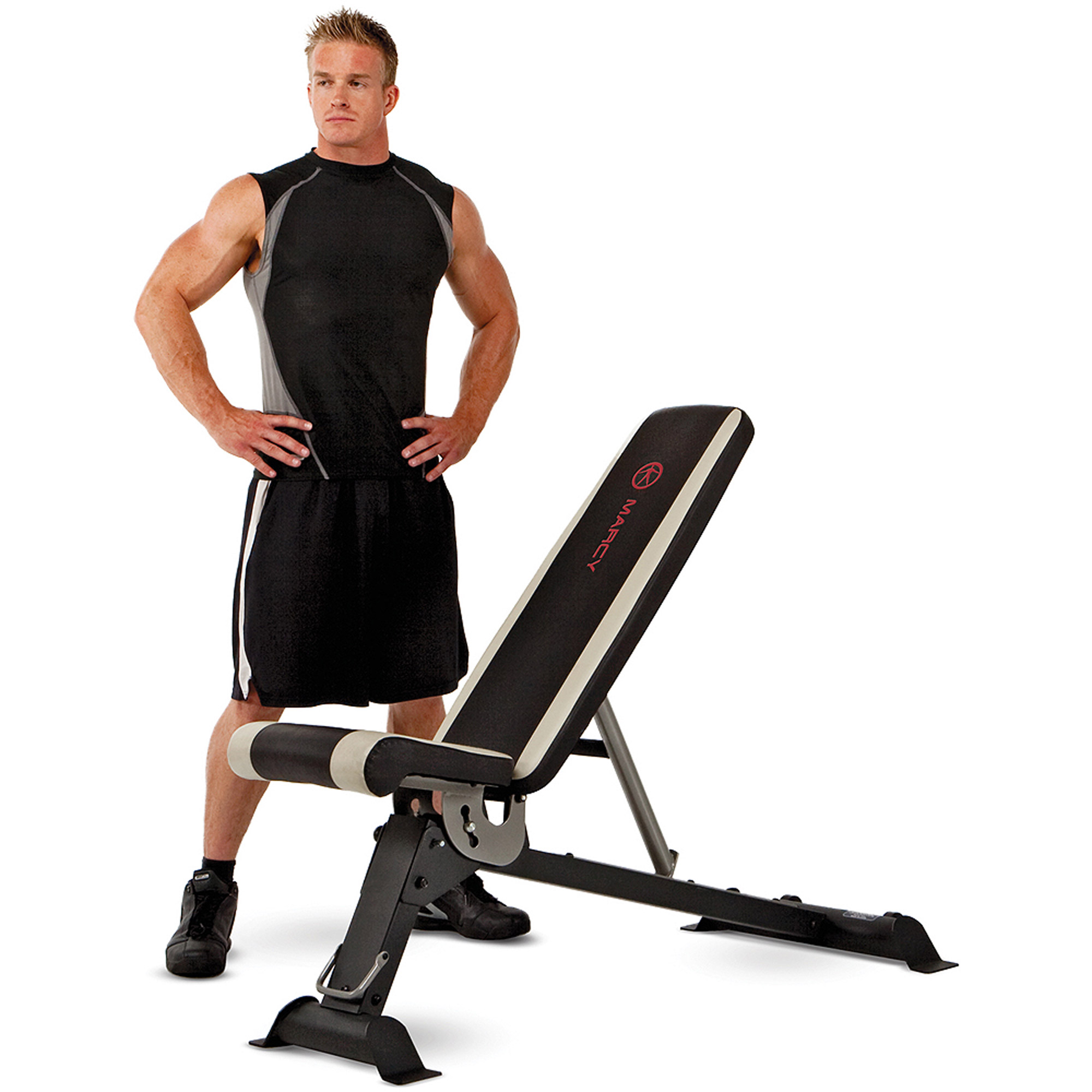Marcy 6-Position Flat/Incline/Decline Utility Bench: SB-670