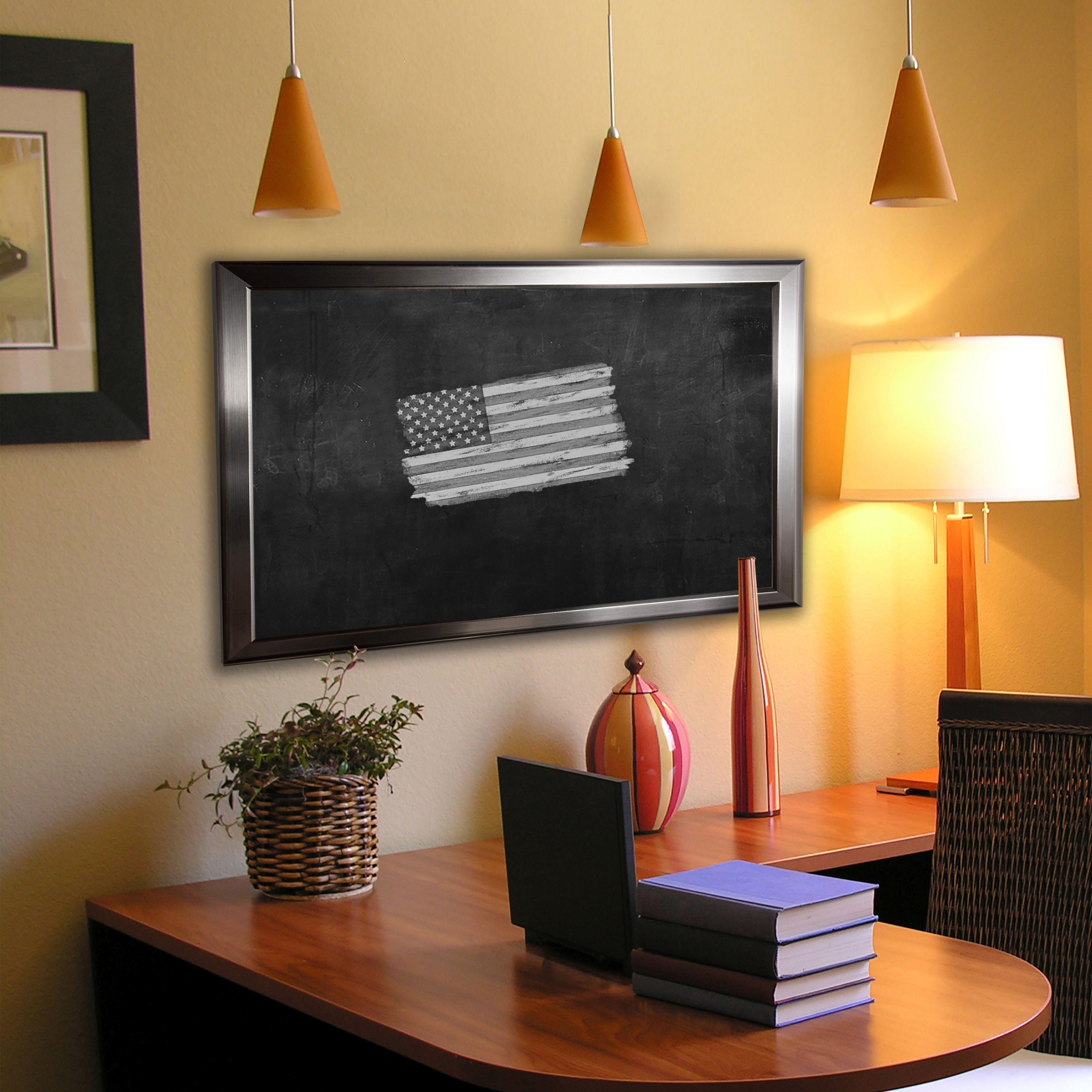 Rayne Mirrors American Made Rayne Silver Rounded Blackboard/Chalkboard
