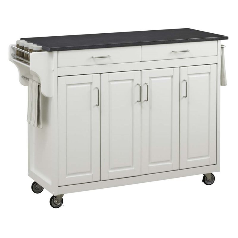Home Styles Create-a-Cart in White Finish