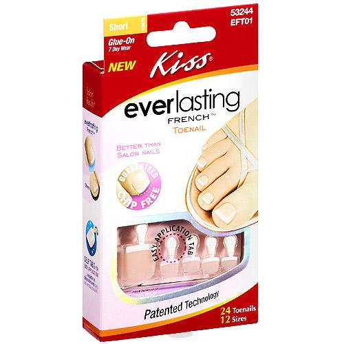 Kiss Everlasting French Toenail Kit, 24ct