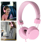 Foldable Kids Over-Ear Headphones, Girls Boys Teens Wired Headsets Noise Reduction Earphone, Foldable 3.5mm Headphones Fit for IOS Android Smartphones