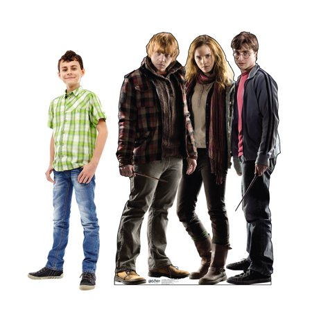 Large Harry, Hermione and Ron Harry Potter Wizard Life Size Cardboard Cutout Life Size Party Prop Decor Birthday Party Supplies Size- 44