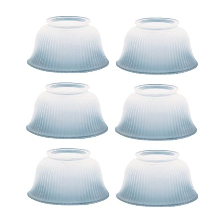 - 6 Lamp Shade White Glass Traditional 3 5/8