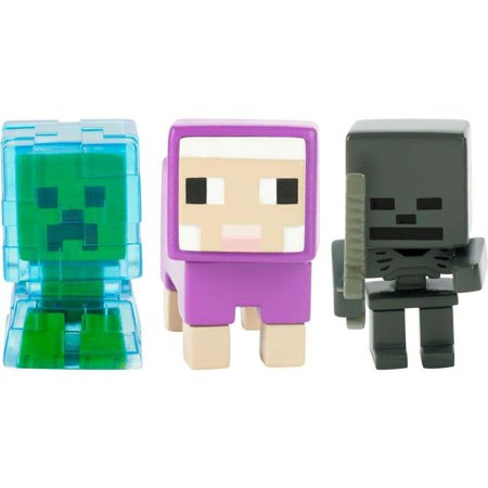 Minecraft Build-A-Mini 3-Pack Charged Creeper, Sheep, Whither