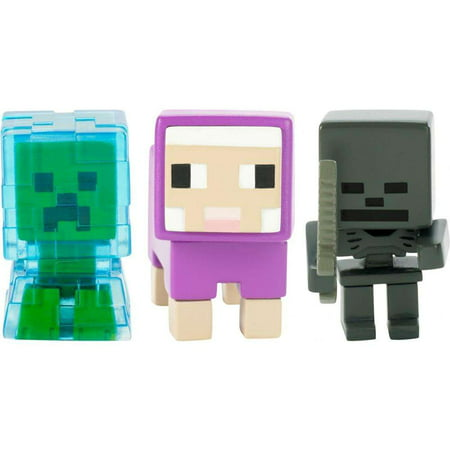 Minecraft Build-A-Mini 3-Pack Charged Creeper, Sheep, Whither Skeleton](Minecraft Creeper Toy)