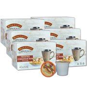 Door County Coffee Frosted Cinnamon Buns Flavored Specialty Single-Serve Coffee Pods, Medium Roast, 60 Count (6 Pack, 10 Count Boxes), Compatible with Keurig 2.0 K Cup Brewers