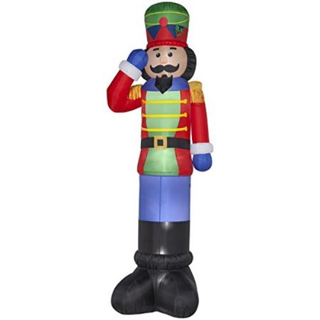 christmas inflatable giant 16 nutcracker outdoor yard - Nutcracker Outdoor Christmas Decorations