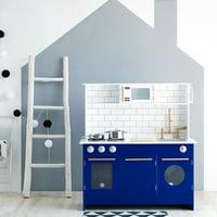 Teamson Kids - Little Chef Berlin Modern Play Kitchen - White / Blue