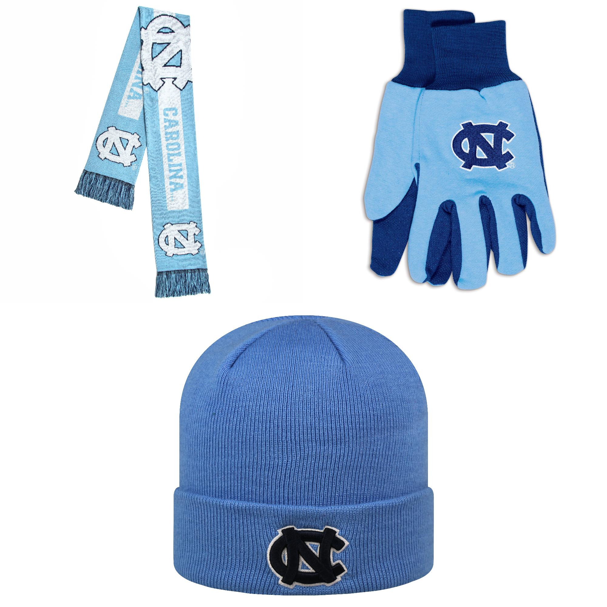 NCAA  Grip Work Glove TOW Beanie Hat And Big Logo Scarf 3 Pack Bundle