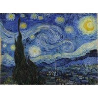 """Jigsaw Puzzles 500 Pieces """"Starry Night"""" Gold Edition by Wuundentoy"""