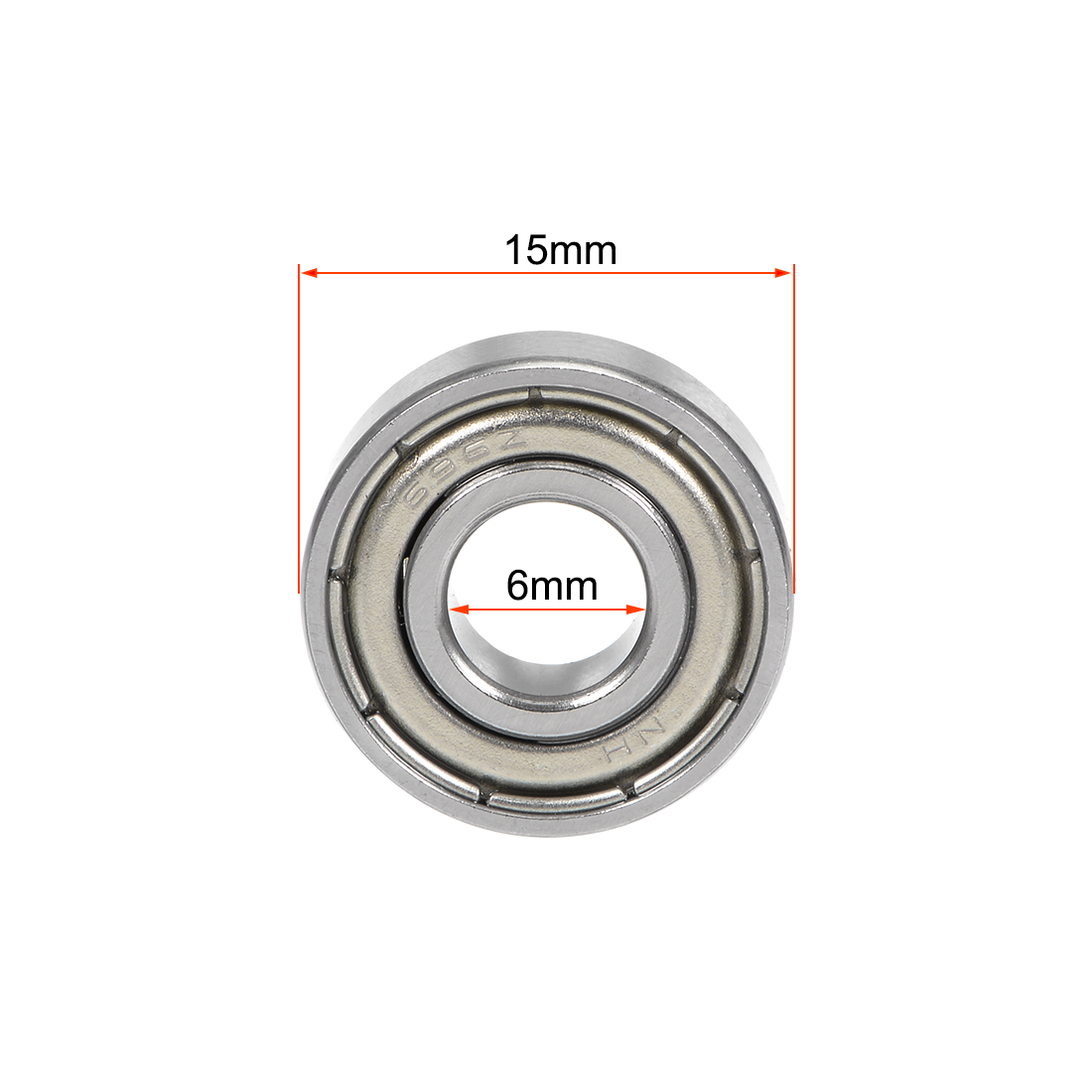 696ZZ Metal Shielded Deep Groove Ball Bearing 6x15x5mm