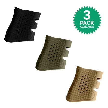 Glock Grip Sleeve - The Ultimate Silicone Rubber Sleeve (3 PACK) - Fits Glock Models 17 / 19 / 20 / 21 / 22 / 23 / 31 / 32 / 37 /