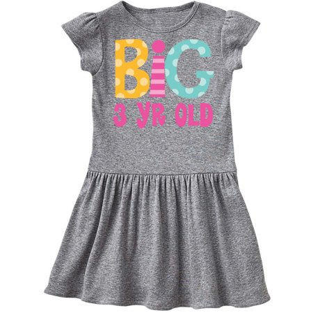 Big 3 Year Old 3rd Birthday Toddler - Old Hollywood Theme Dress