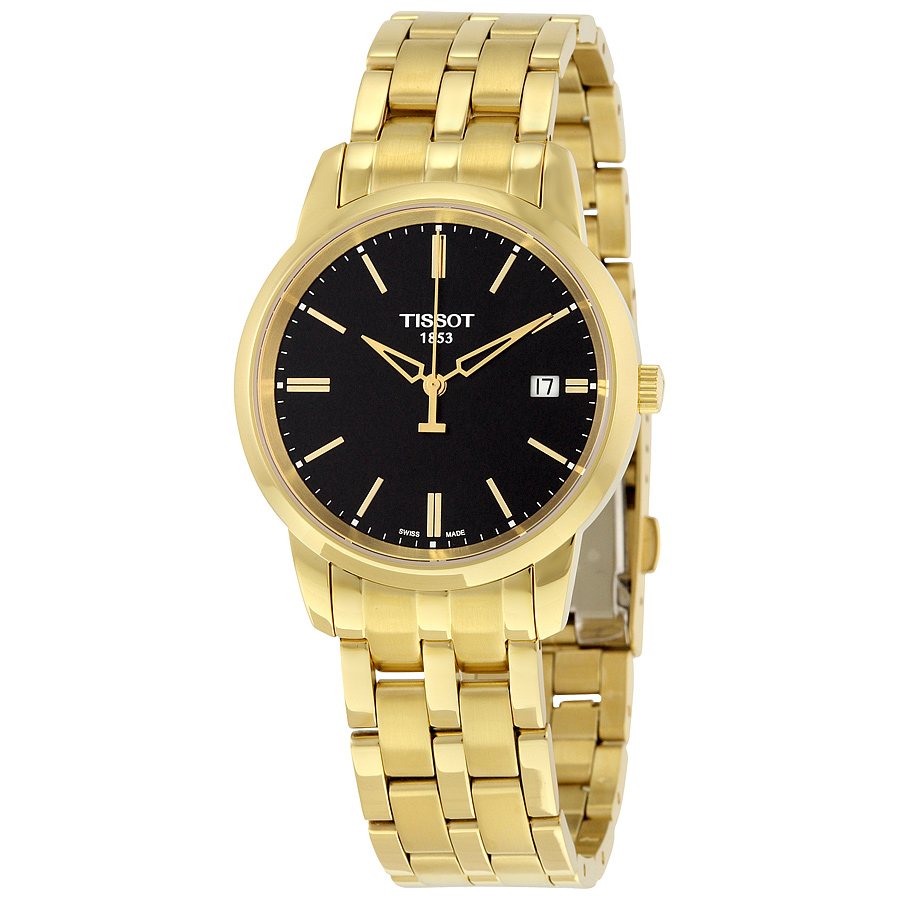 Tissot Classic Dream Black Dial Gold PVD Watch T033410330...
