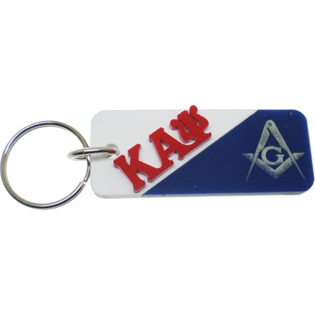 Kappa Alpha Psi + Mason Mirror Split Keychain [White/Blue - 3