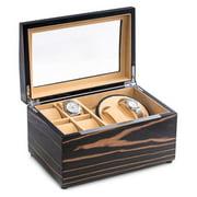 Lacquered Ebony 2 Watch Winder &Watch Storage