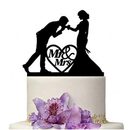 Kissing Couple Cake Topper - Buythrow Acrylic Kissing My Love Wedding Couple Wedding Decoration Cake Topper for Wedding Engagement Bridal Shower Wedding