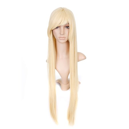 Blonde Straight Long Length Anime Cosplay Costume Wig