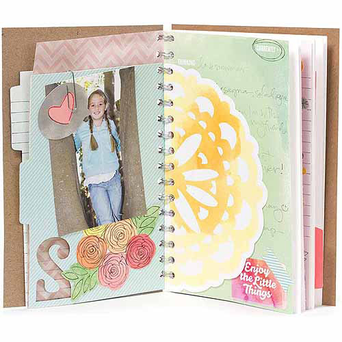 """Amy Tangerine Yes Please Spiral Bound Daybook, 8"""" x 5.5"""", 34 Printed Cardstock & Die-Cut Pages"""