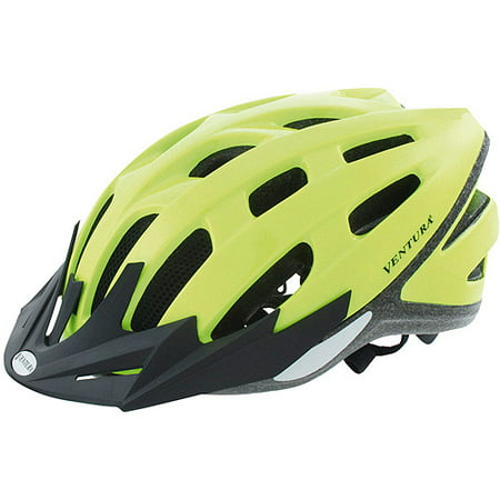 Ventura Safety Neon Yellow Bike Helmet, Adult (54-58cm) for $<!---->