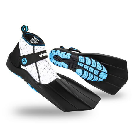 Apollo Sports Bio Fin (Wildhorn Topside Men's 9 Women's 9-9.5 Hydro Snorkel Fins Flippers, Pearl Aqua)