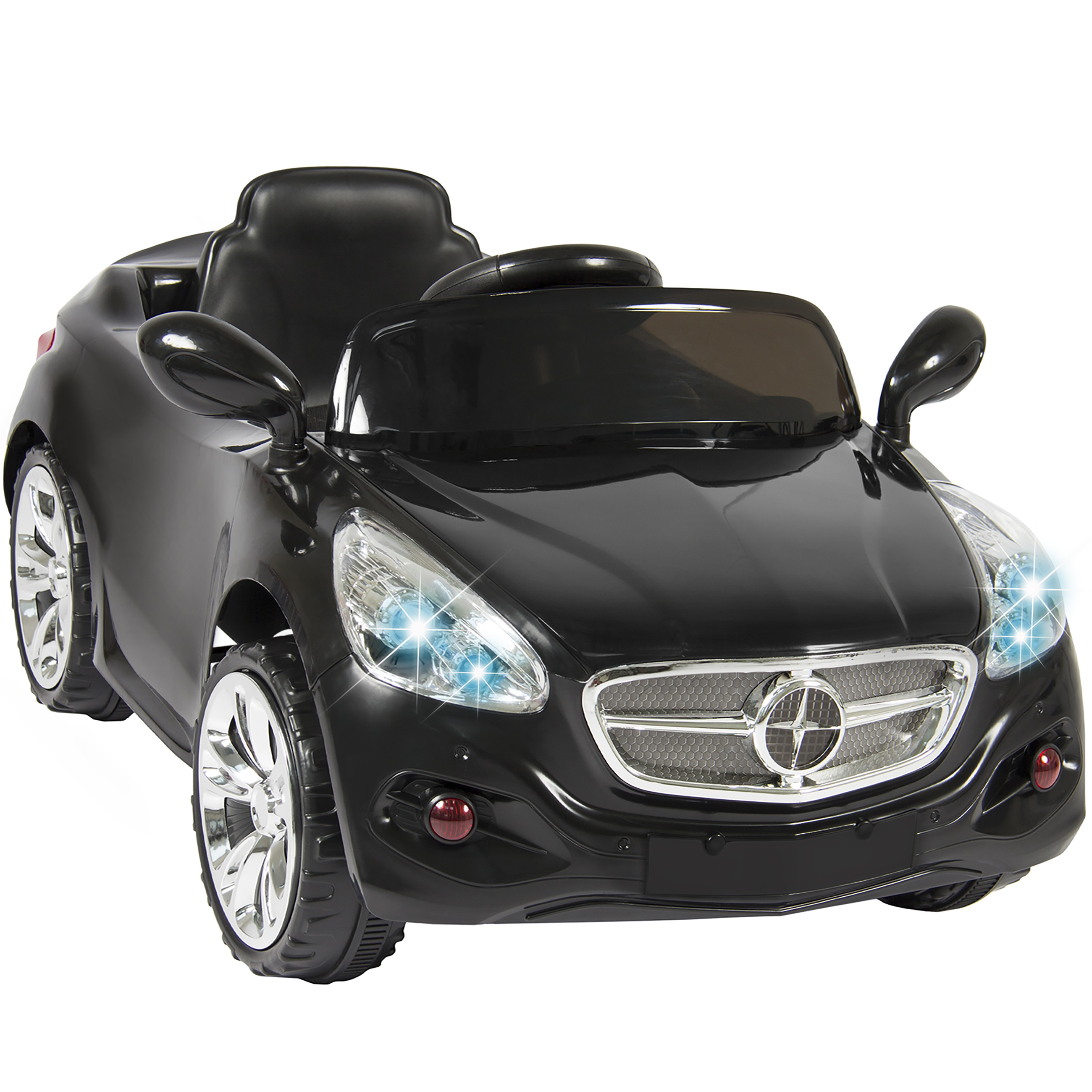 Authentic Mercedes Benz 12V Ride On Toy Car For Kids Remote Control MP3 Blue