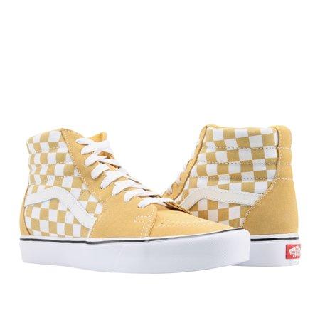 Vans Sk8 Hi White - Vans Sk8-Hi Lite Ochre Yellow/White Classic Hi Top Unisex Sneakers VN0A2Z5YR2J