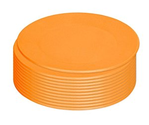 Green Eats Snack Plate, 12 Count, Orange by Green Eats
