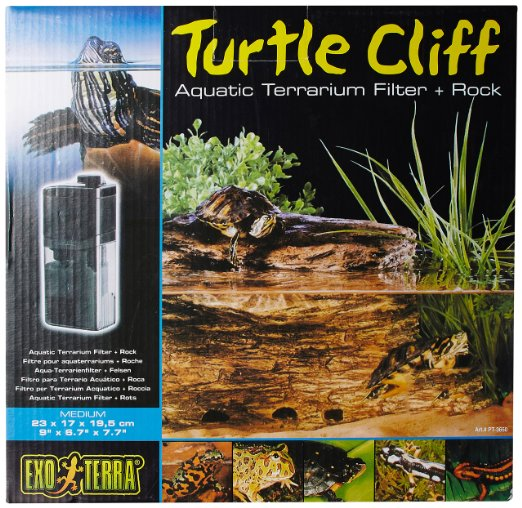 Hagen Exo Terra Turtle Cliff Aquatic Terrarium Filter/Rock, Medium