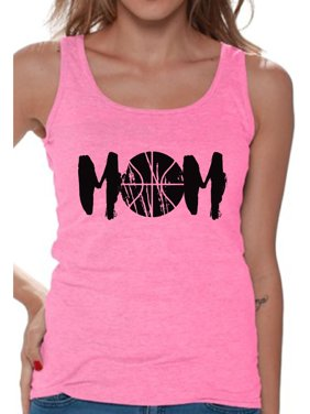 787cef5f1 Product Image Awkward Styles Women's Basketball MOM Mothering Graphic Tank  Tops Black Mother's ...