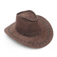 Dark Brown Western Cowboy Cowgirl Cattleman Hat for Kids Children Party Costume
