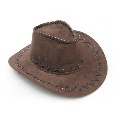 Dark Brown Western Cowboy Cowgirl Cattleman Hat for Kids Children Party (Child's Highwayman Costume)
