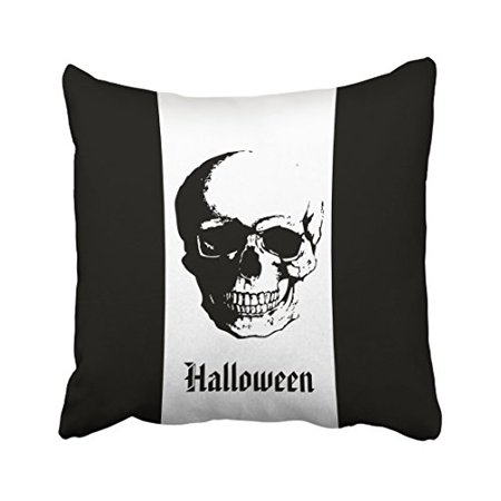 RYLABLUE Decorative Pillowcases Halloween Skull Throw Pillow Covers Cases Cushion Cover Case Sofa 18x18 Inches Two Side - image 1 de 1